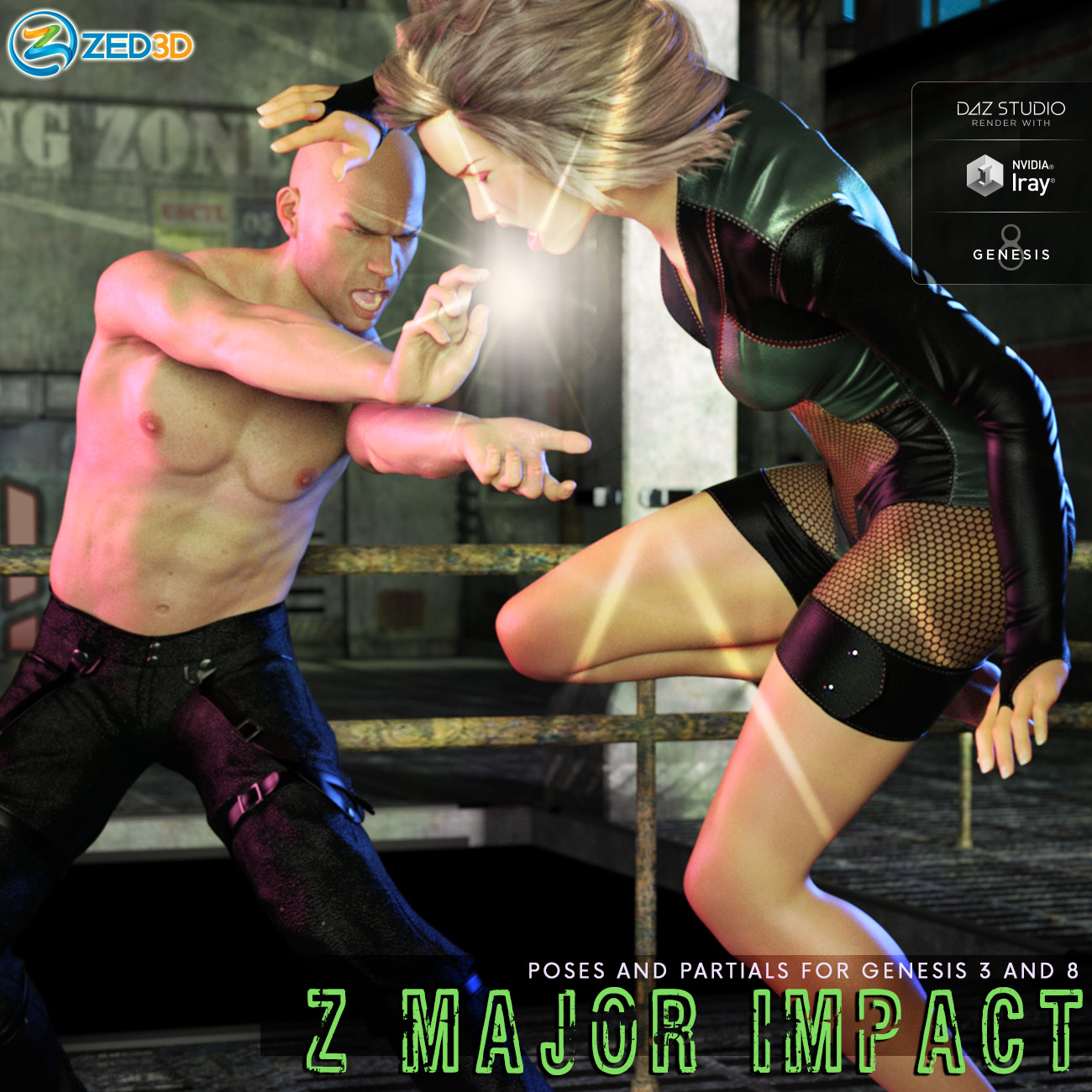 Z Major Impact - Poses for Genesis 3 and 8 Male and Female