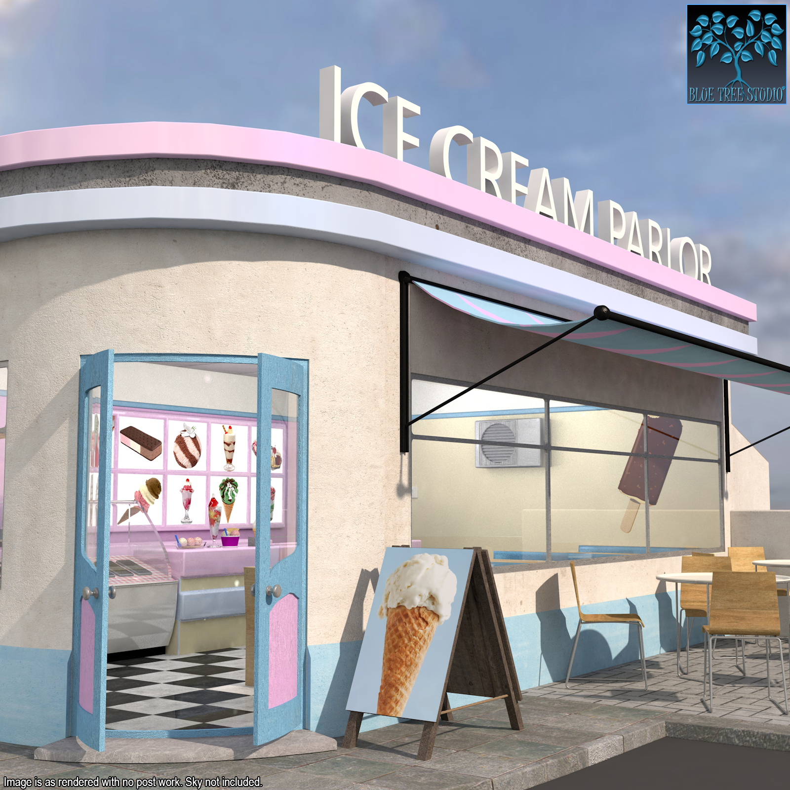 Ice Cream Parlor by BlueTreeStudio