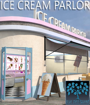 Ice Cream Parlor 3D Models BlueTreeStudio