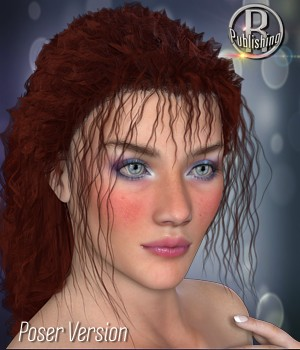 Carolina Hair V4 M4 Poser 3D Figure Assets RPublishing