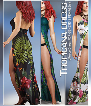 dForce Tropicana Dress for Genesis 8 Females 3D Figure Assets lilflame