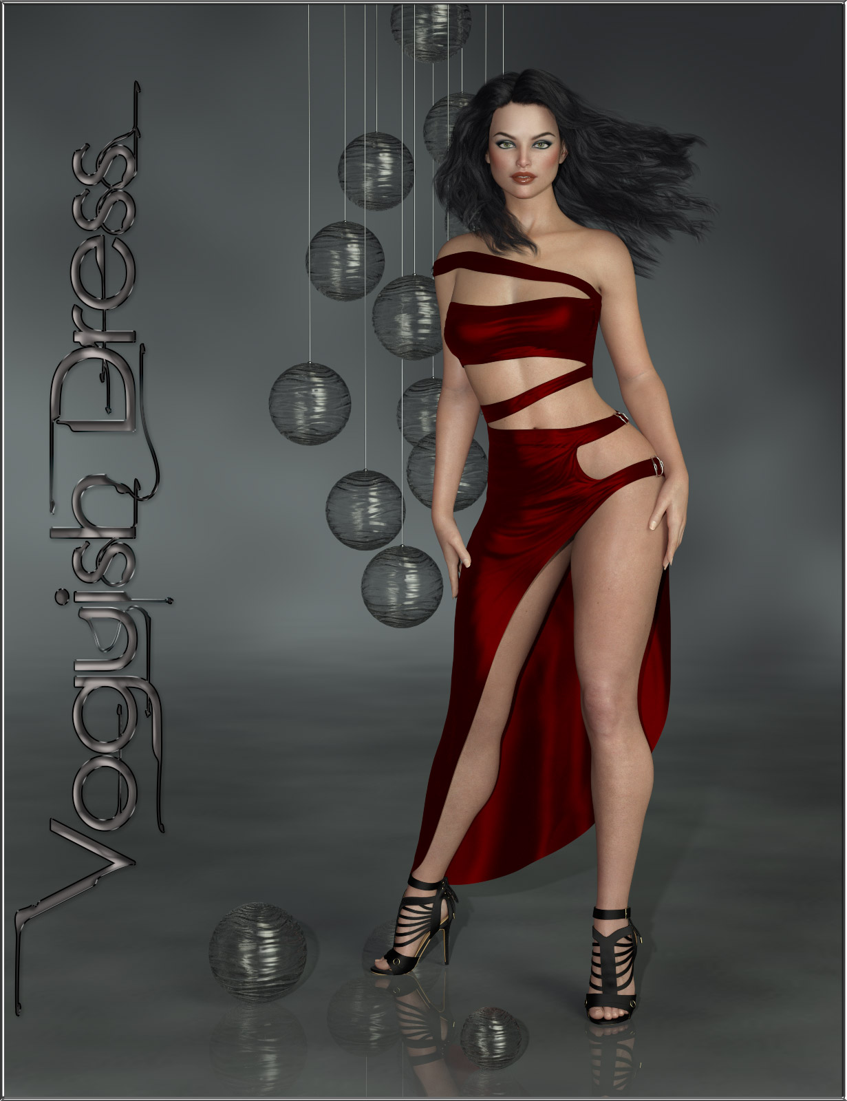 dForce-Voguish Dress for Genesis 8 Female  by ilona