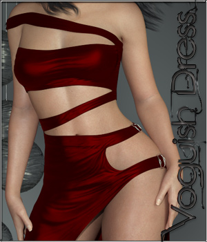 dForce-Voguish Dress for Genesis 8 Female  3D Figure Assets ilona