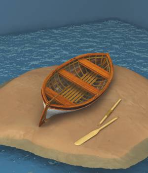Beach Wreck Boat For Vue 3D Models forester