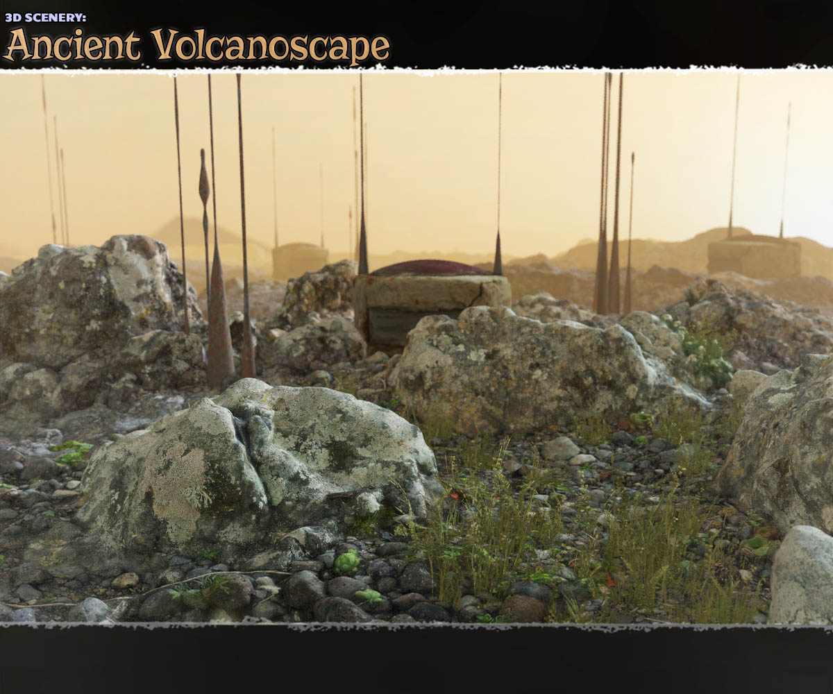 3D Scenery: Ancient Volcanoscape by ShaaraMuse3D