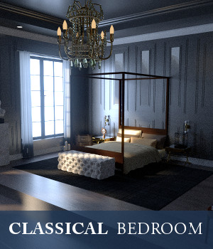 Classical Bedroom 3D Models TruForm