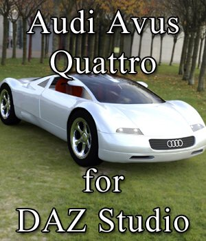 Audi Avus Quattro for DAZ Studio 3D Models Digimation_ModelBank
