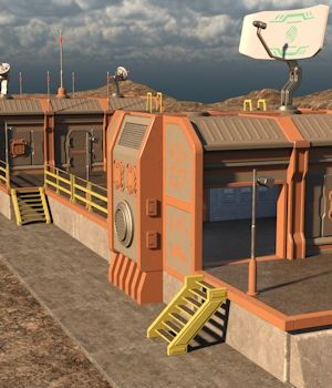 Sci Fi Communication Center 3D Models Nightshift3D