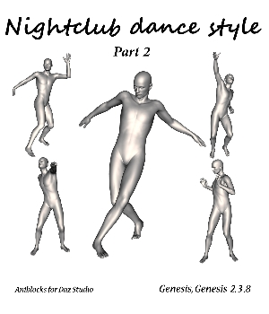 Nightclub dance style Part 2  by LifeMotion 3D Figure Assets LifeMotion