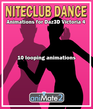 Nite Club Dance for V4 3D Figure Assets AnyMatter