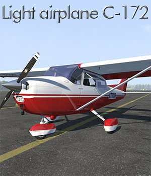 Light airplane C-172 for Poser 3D Models 2nd_World