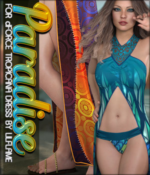 Paradise for dForce Tropicana Dress G8F 3D Figure Assets Sveva