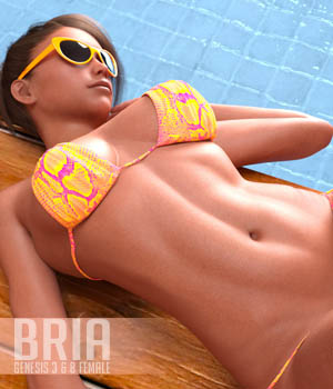 Bria for Genesis 3 and 8 Females 3D Figure Assets Xile3D