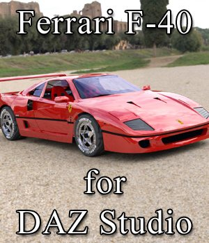 Ferrari F-40 for DAZ Studio  3D Models Digimation_ModelBank