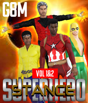 SuperHero Stance for G8M Volume 1 & 2