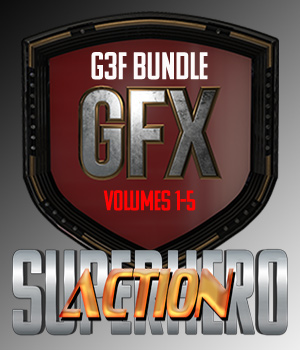SuperHero Action Bundle for G3F 3D Figure Assets GriffinFX