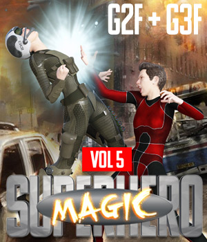 SuperHero Magic for G2F and G3F Volume 5 3D Figure Assets GriffinFX