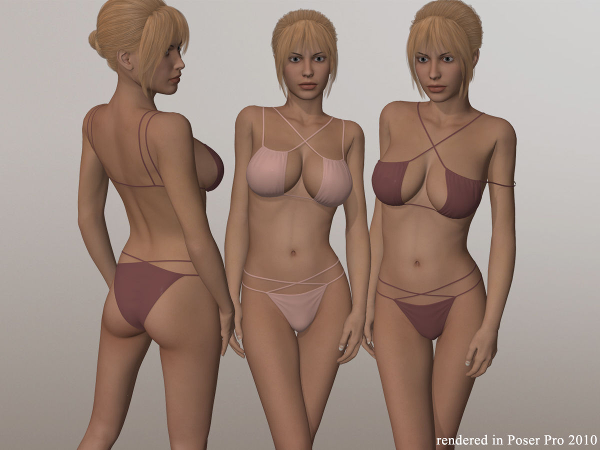 Strappy Two Piece Bikini Set I for V4A4G4S4Elite and Pose