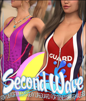 Second Wave for Sexy Lifeguard Body for Genesis 8 Female 3D Figure Assets ShanasSoulmate