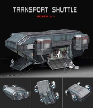 Transport Shuttle 3D Models shawnaloroc