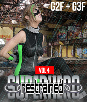 SuperHero Restrained for G2F and G3F Volume 4 3D Figure Assets GriffinFX