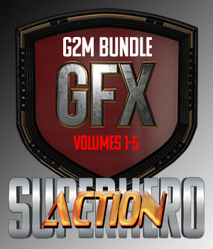 SuperHero Action Bundle for G2M 3D Figure Assets GriffinFX