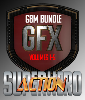 SuperHero Action Bundle for G8M 3D Figure Assets GriffinFX