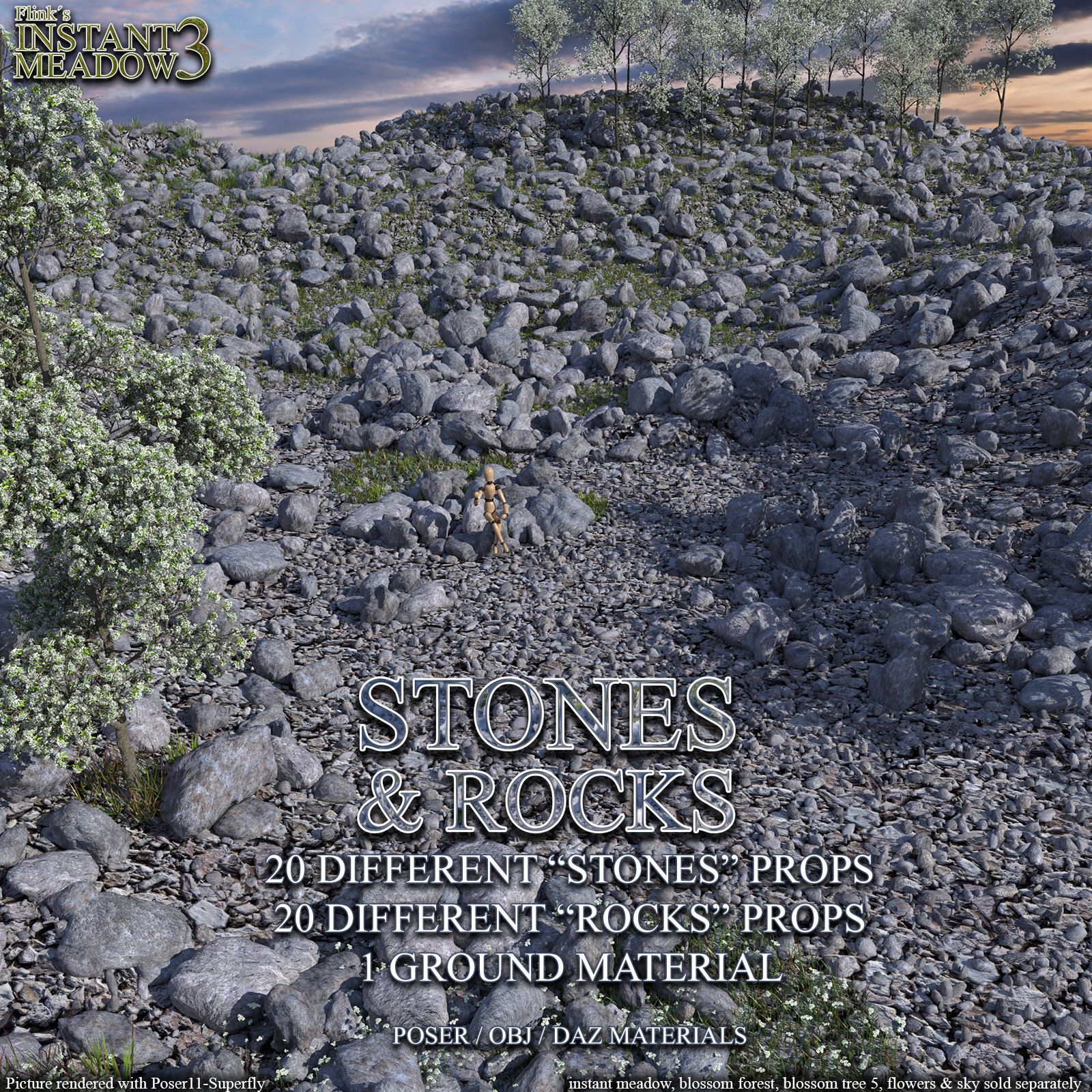Flinks Instant Meadow 3 - Stones & Rocks by Flink