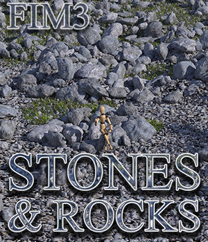 Flinks Instant Meadow 3 - Stones & Rocks 3D Models Flink