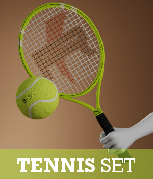 Tennis Set 3D Models TruForm