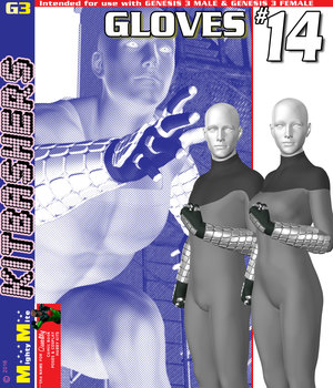 Gloves 014 MMKBG3  3D Figure Assets MightyMite