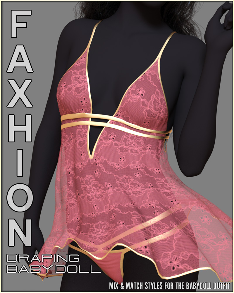 Faxhion - Draping Babydoll Lingerie