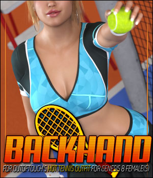 Backhand for HOT Tennis Outfit for Genesis 8 Females 3D Figure Assets ShanasSoulmate