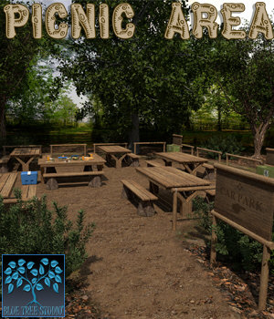 Picnic Area 3D Models BlueTreeStudio