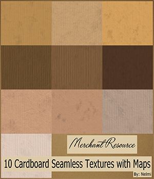10 Cardboard Textures with maps - MR 2D Graphics Merchant Resources nelmi