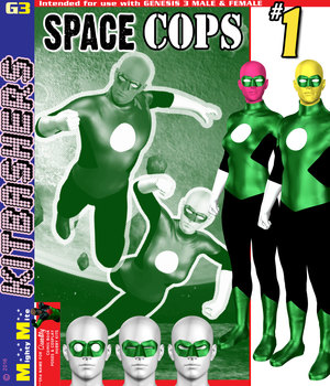 Space Cops 001 MMKBG3 3D Figure Assets MightyMite