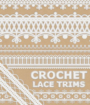 Crochet Lace Trims 2D Graphics Merchant Resources Atenais