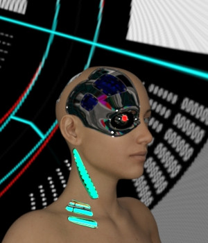 Cybernetic Neck for Genesis 8 Females 3D Figure Assets JSchaper