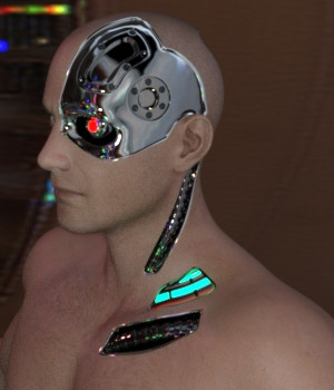 Cybernetic Neck for Genesis 8 Males 3D Figure Assets 3D Models JSchaper