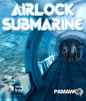 Submarine Airlock For DS 3D Models pamawo