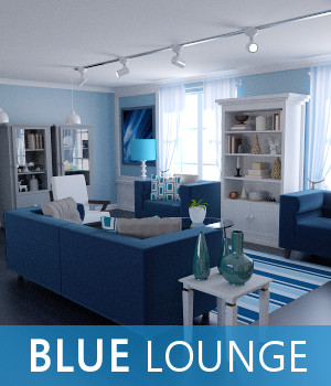 Blue Lounge 3D Models TruForm