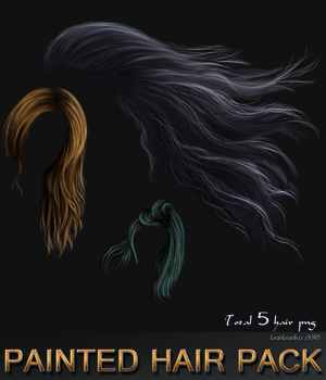 Painted Hair Pack 2D Graphics bonbonka