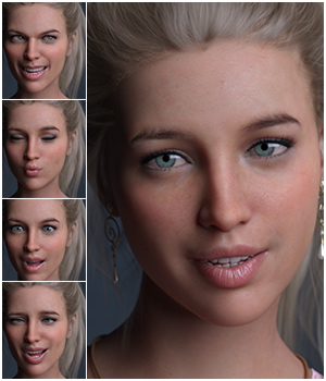 IG 100 Useful Expressions for Genesis 8 Female 3D Figure Assets Godin