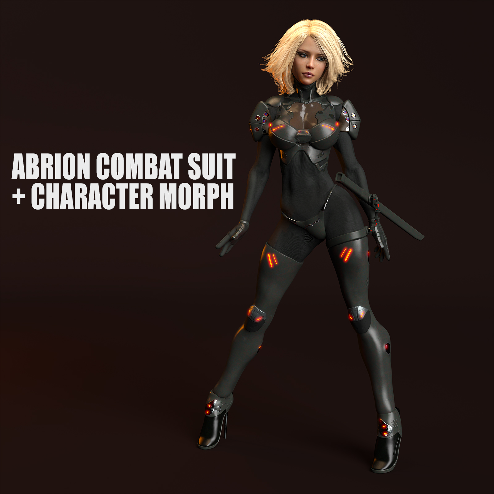 Abrion Combat Suit and Character Morph for Genesis 8 Female DAZ Studio Iray