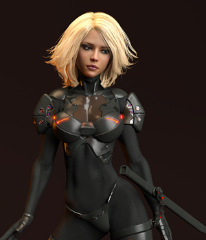 Abrion Combat Suit and Character Morph for Genesis 8 Female DAZ Studio Iray 3D Figure Assets benalive