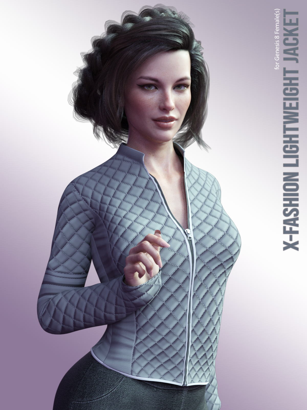 X-Fashion LightWeight Jacket for Genesis 8 Females