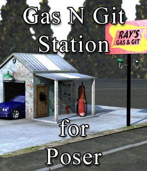 Gas N Git Station for Poser 3D Models VanishingPoint