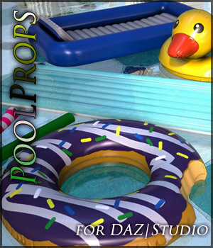Pool Props for Daz Studio 3D Models Quanto
