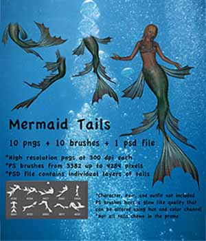 Mermaid Tails High Res  2D Graphics markcruz