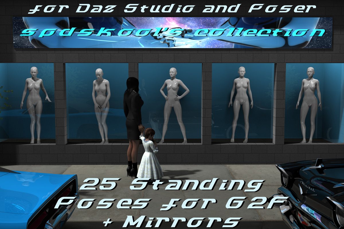 25 Standing Poses for G2F and Mirrors by spdskool